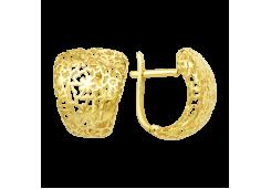 Серьги классические из желтого золота