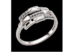 Кольцо из белого золота с фианитом