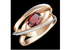 Золотое кольцо с гранатом