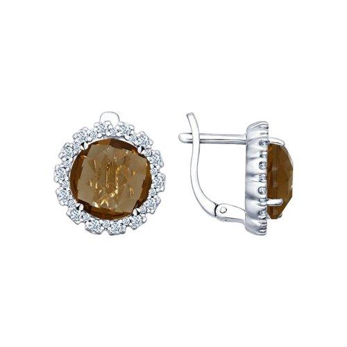 Серьги из серебра 925 пробы с алпанитом
