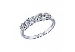 Кольца из серебра, вставка сваровски кристалл 96010