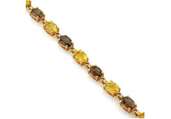 Золотой браслет с полудрагоценными камнями