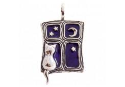 Серебряная подвеска с эмалью