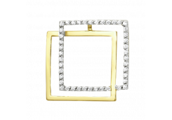 Подвеска из желтого золота с фианитом