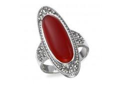 Серебряное кольцо с кораллом