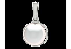 Серебряная подвеска с жемчугом