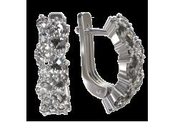 Серебряные cерьги с фианитом