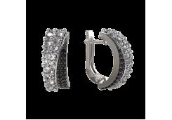 Серебряные cерьги классические со шпинелью