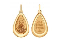 Золотая подвеска с эмалью