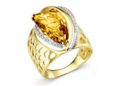 Кольцо из желтого золота с ситалом