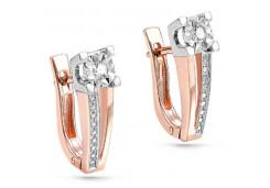 Золотые cерьги с бриллиантом