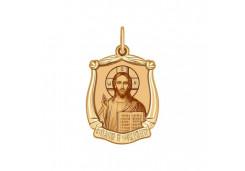 Подвеска из красного золота 585 пробы с эмалью