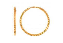 Золотые cерьги конго