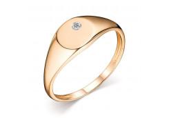 Печатка из золота с бриллиантом