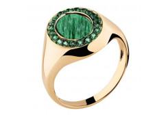 Золотое кольцо с малахитом