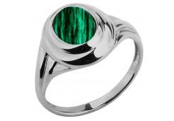 Серебряное кольцо с малахитом