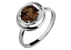 Серебряное кольцо с раух-топазом