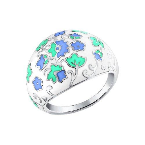 Кольцо из серебра 925 пробы с эмалью