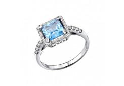 Серебряные кольца с топазом 27950
