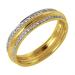 Кольцо обручальное из желтого золота с бриллиантом