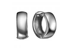 Серебряные cерьги классические с чернением