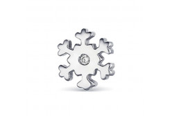 Серебряная серьга пусет (гвоздик) с бриллиантом