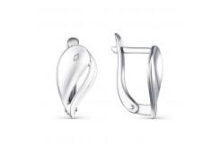 Серебряные cерьги классические с бриллиантом