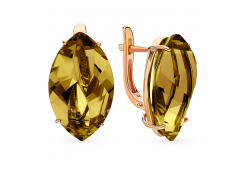 Золотые cерьги с султанитом