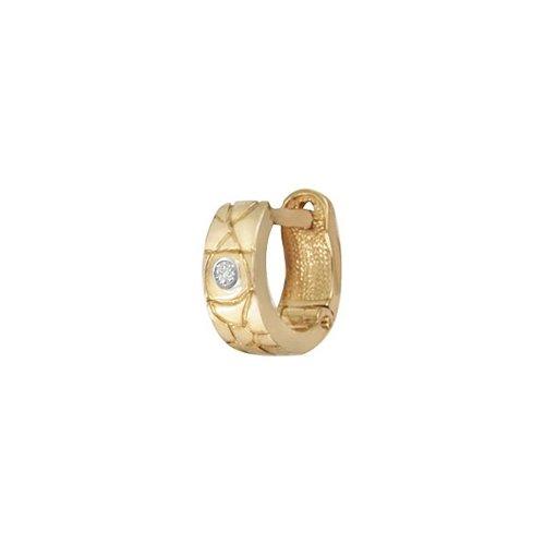 Серьга из красного золота 585 пробы с бриллиантом