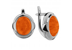 Серебряные cерьги с сердоликом