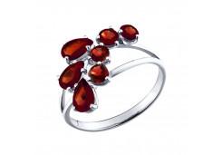 Серебряное кольцо с корундом
