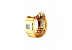 Золотая серьга классическая с бриллиантом