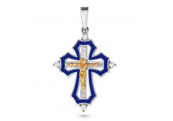 Крест из серебра с фианитом