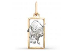 Золотая подвеска с фианитом