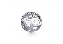 Серебряная подвеска с бриллиантом