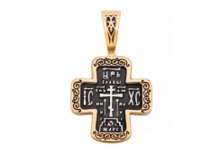Крест из золота с чернением