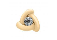 Золотая подвеска с бриллиантом