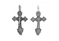 Крест из серебра с чернением