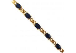 Золотой браслет с сапфиром