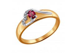 Золотое кольцо с рубином