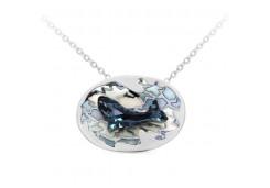 Серебряное колье с эмалью