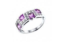 Серебряные кольца с аметистом 37893