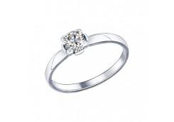 Кольца из серебра, вставка сваровски кристалл 96014