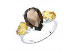 Женские кольца из серебра, вставка микс (полудраги) 85956