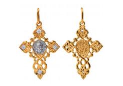 Крест из золота с фианитом
