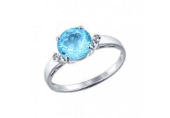 Серебряные кольца с топазом 40337