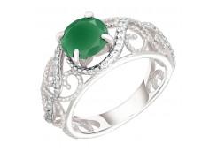 Серебряное кольцо с ювелирной вставкой