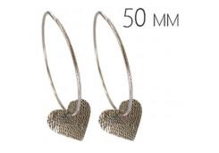 Серебряные cерьги конго