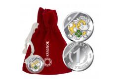 Сувенир из серебра с эмалью