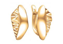 Серебряные cерьги классические с позолотой